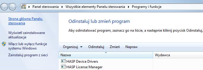 LEX DVD – Problem z instalacją HASP-a, instrukcja